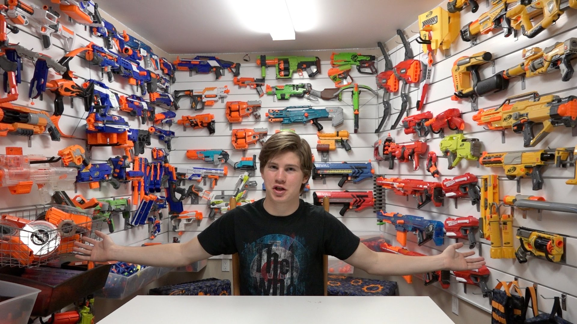 nerf guy with a lot of nerf